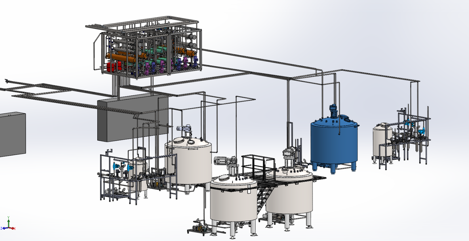 Autocad Plant 3D implantation zone de process